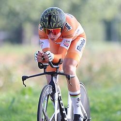 02-09-2018: Wielrennen: Ladies Tour: Roosendaal<br />Annemiek van Vleuten start als leidster in de slottijdrit en is opweg naar de overwinning