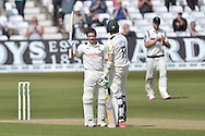 Chris Read acknowledges the crowd after completing his century during the Specsavers County Champ Div 1 match between Nottinghamshire County Cricket Club and Yorkshire County Cricket Club at Trent Bridge, West Bridgford, United Kingdon on 4 May 2016. Photo by Simon Trafford.