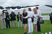 Isabella Anstruther-Gough-Calthorpe ; Sam Branson; Holly Branson, Cartier International Polo Day at the Guards Polo Club. Windsor. July 26  2009