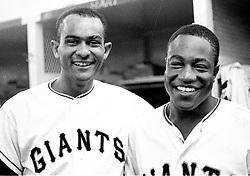San Francisco Giants Jesus Alou and Jim Ray Hart..(1968 photo/Ron Riesterer)