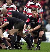 Watford, GREAT BRITAIN, 3rd April 2004, Vicarage Road, ENGLAND. [Mandatory Credit: Photo  Peter Spurrier/Intersport Images],<br /> 03/04/2004  - 2003/04 Zurich Premiership - Saracens v Gloucester<br /> Morgan Williams