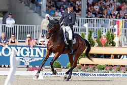 JUNG Michael (GER), fischerChipmunk FRH<br /> Luhmühlen - LONGINES FEI Eventing European Championships 2019<br /> Teilprüfung Dressur 3. Teil CCI4*<br /> Dressage CH-EU-CCI4*-L: 3rd part<br /> 30. August 2019<br /> © www.sportfotos-lafrentz.de/Stefan Lafrentz