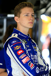 February 22, 2019 - Hampton, GA, U.S. - HAMPTON, GA - FEBRUARY 22: #36: Matt Tifft, Front Row Motorsports, Ford Mustang Surface Sunscreen / Tunity looks on during first practice for the MENCS Folds of Honor QuikTrip 500 race on February 22, 2019 at the Atlanta Motor Speedway in Hampton, GA.  (Photo by David John Griffin/Icon Sportswire) (Credit Image: © David J. Griffin/Icon SMI via ZUMA Press)