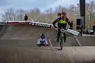 #494 (GUESNET Julie) FRA at the 2018 UCI BMX Superscross World Cup in Saint-Quentin-En-Yvelines, France.