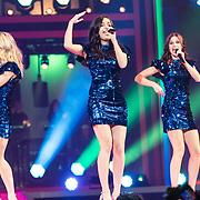 NLD/Amsterdam/20191115 - Chantals Pyjama Party in Ziggo Dome, K3, , Marthe De Pillecyn , Klaasje Meijer en Hanne Verbruggen