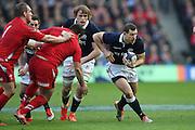 15.02.2015. Edinburgh. RBS 6 Nations 2015 Scotland v Wales.Scotland's Tim Visser with the ball. from Murrayfield Stadium, Edinburgh.