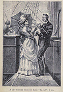 A cry escaped from his lips from the book ' Mistress Branican ' by Jules Verne, illustrated by Leon Benett. The story begins in the United States, where the heroine, Mistress Branican, suffers a mental breakdown after the death by drowning of her young son. On recovering, she learns that her husband, Captain Branican, has been reported lost at sea. Having acquired a fortune, she is able to launch an expedition to search for her husband, who she is convinced is still alive. She leads the expedition herself and trail leads her into the Australian hinterland. Mistress Branican (French: Mistress Branican, 1891) is an adventure novel written by Jules Verne and based on Colonel Peter Egerton Warburton and Ernest Giles accounts of their journeys across the Western Australian deserts, and inspired by the search launched by Lady Franklin when her husband Sir John Franklin was reported lost in the Northwest Passage. Translated by A. Estoclet, Published in New York, Cassell Pub. Co. 1891.