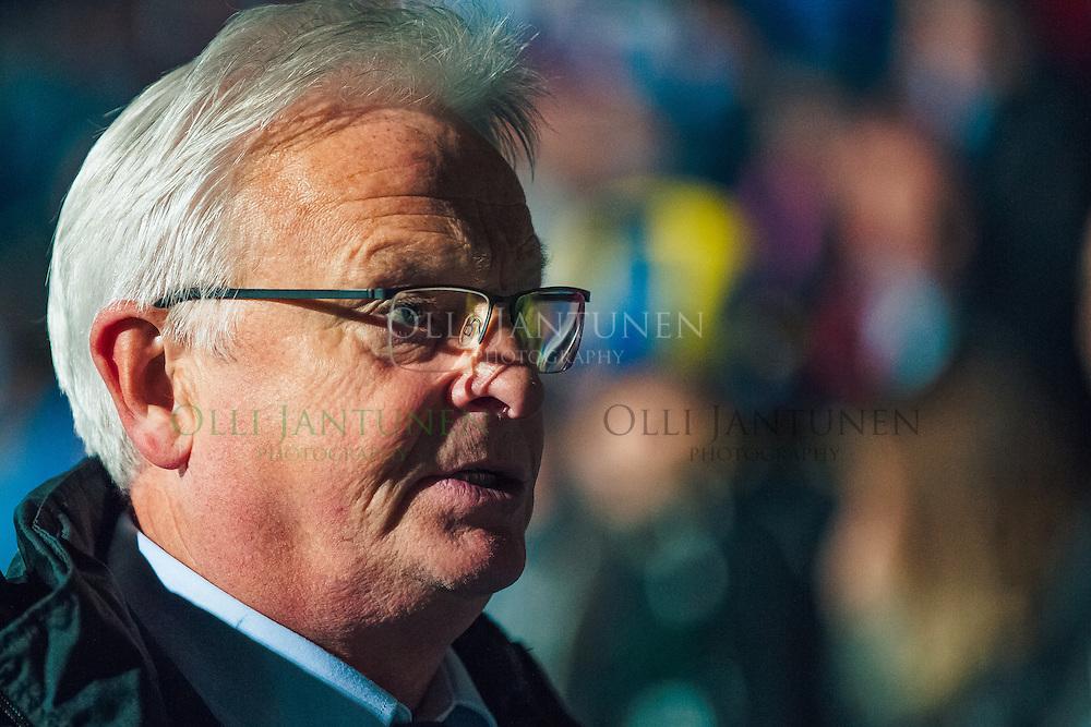 Suomen päävalmentaja Hans Backe MM2018-karsintaottelun Suomi - Kosovo jälkeen. Veritas stadion, Turku, Suomi. 5.9.2016.