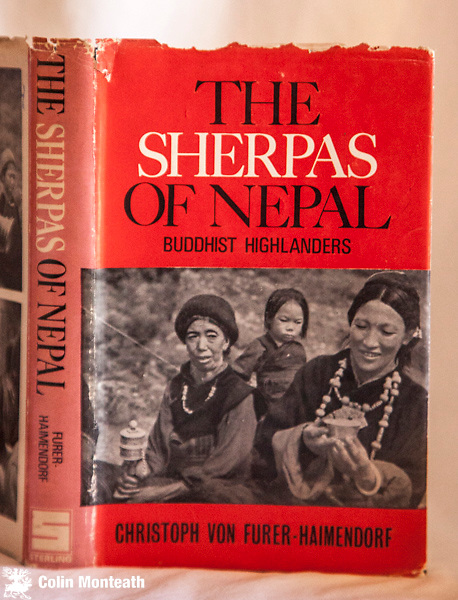 THE SHERPAS OF NEPAL -  Christoph von Furer-Haimendorf, Sterling publishers, New Delhi, 1979, 1st Indian edn., 300 page VG hardback with sl chipped jacket, spine sunned,  B&W plates, - an excellent early survey of the Sherpa culture by a famous anthropologist. $NZD35  ( Also see 1st edition for sale  in Nepal Book gallery)