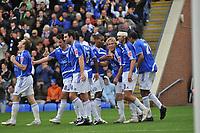 Photo:Tony Oudot/Richard Lane Photography. Peterborough United v Leeds United. Coca-Cola Football League One. 04/10/2008. Craig Mackail-Smith (centre) celebrating after scoring the second goal for Petrborough.