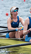 Poznan, POLAND, 21st June 2019, Friday, Morning Heats, USA1 W4- Madeleine WANAMAKER,  FISA World Rowing Cup II, Malta Lake Course, © Peter SPURRIER/Intersport Images,<br /> <br /> 11:28:18