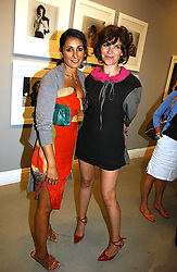 Left to right, SERENA REES and JESSICA MORRIS at an exhibition of photographs by the late Robert Mapplethorpe at the Alison Jacques Gallery, 4 Clifford Street, London W1 on 7th September 2006.<br /><br />NON EXCLUSIVE - WORLD RIGHTS