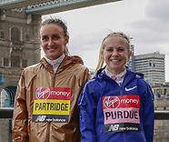 London Marathon British athletes Press Facility 240419