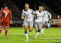 Football - 2019 / 2020 EFL Carabao (League) Cup - Fourth Round: Crawley Town vs. Colchester United<br /> <br /> Cohen Bramall of Colchester celebrates scoring goal no 2, at The Peoples Pension Stadium (Broadfield).<br /> <br /> COLORSPORT/ANDREW COWIE
