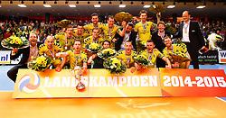 20150426 NED: Eredivisie Landstede Volleybal - Abiant Lycurgus, Zwolle<br />Landstede Volleybal is Landskampioen 2014 - 2015<br />©2015-FotoHoogendoorn.nl / Pim Waslander