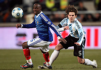 Fotball<br /> Frankrike v Argentina<br /> Foto: DPPI/Digitalsport<br /> NORWAY ONLY<br /> <br /> FOOTBALL - FRIENDLY GAMES 2008/2009 - FRANCE v ARGENTINA - 11/02/2009 - LASSANA DIARRA (FRA) / FERNANDO GAGO (ARG)