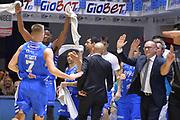 Lalanne Cady, Maffezzoli Massimo<br /> Happycasa Basket Brindisi - The Flexx Pistoia<br /> Legabasket SerieA 2017-2018<br /> Brindisi 28/01/2018<br /> Foto Ciamillo-Castoria / Michele Longo