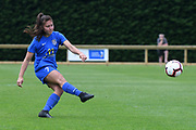 Southern United's Shontelle Smith kicks in the National womens league football match, Central Football v Southern United, Massey University, Palmerston North, Sunday, December 02, 2018. Copyright photo: Kerry Marshall / www.photosport.nz