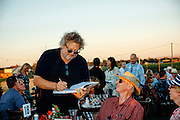 Tom Douglas signing new cookbook at the North Star Winery Harvest Dinner