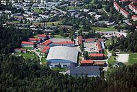 Manglerudhallen fotballhall i Oslo. Innendørshall. ManglerudStar ishockey. <br /> <br /> Flyfoto / Arena / Aerial Photo Oslo, 29. juli 2008.<br /> Foto: Peter Tubaas/Digitalsport