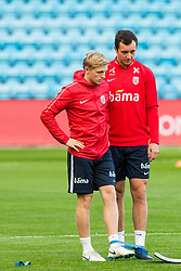 October 10, 2018 - Oslo, NORWAY - 181010 Mats Møller Dæhli and Even Hovland of Norway during a training session on October 10, 2018 in Oslo..Photo: Jon Olav Nesvold / BILDBYRÃ…N / kod JE / 160323 (Credit Image: © Jon Olav Nesvold/Bildbyran via ZUMA Press)