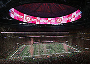 ATLANTA, GA - JANUARY 08:  General view of Mercedes-Benz Stadium after the College Football Playoff National Championship game between the Georgia Bulldogs and the Alabama Crimson Tide at Mercedes-Benz Stadium on January 8, 2018 in Atlanta, Georgia.  (Photo by Mike Zarrilli/Getty Images)