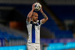 CARDIFF, WALES - Wednesday, November 18, 2020: Finland's Nikolai Alho takes a throw-in during the UEFA Nations League Group Stage League B Group 4 match between Wales and Finland at the Cardiff City Stadium. Wales won 3-1 and finished top of Group 4, winning promotion to League A. (Pic by David Rawcliffe/Propaganda)