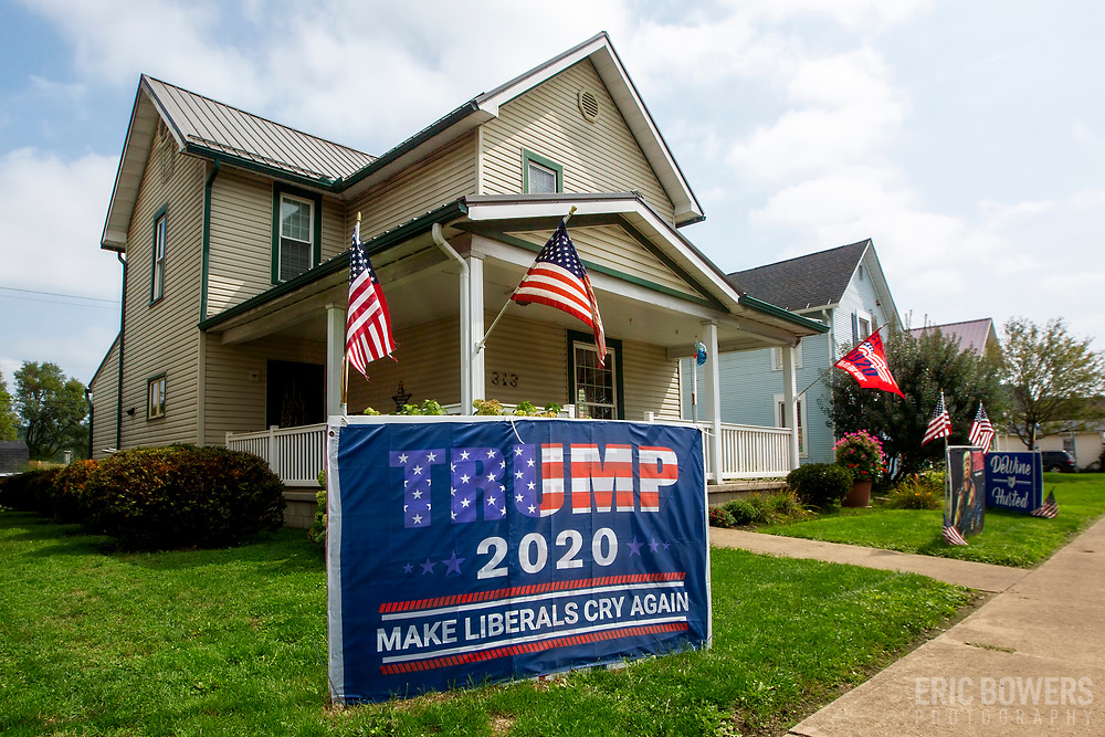 Political signs in rural northeast Ohio, September 2020 leading up to the Trump/Biden presidential election.