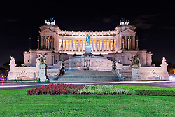 Monument of Victor Emmanuel II at the Piazza Venezia, Rome, Italy