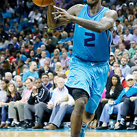 01 November 2015: Charlotte Hornets forward Marvin Williams (2) passes the ball during the Atlanta Hawks 94-92 victory over the Charlotte Hornets, at the Time Warner Cable Arena, in Charlotte, North Carolina, USA.