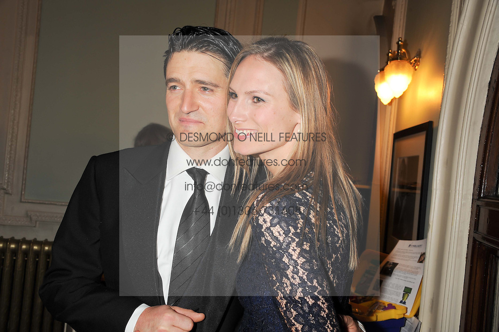 Actor TOM CHAMBERS and his wife CLARE HARDING at an after show party following the 1st preview show of the new show Top Hat in aid of the charity Starlight held at the Aldwych Theatre, London on 19th April 2012.