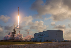 May 1, 2017 - Cape Canaveral, Florida, U.S. - The National Reconnaissance Office's NROL-76 payload are a mystery, it's still hard to hide a rocket launch taking to the skies off the coast of Florida. Ascending on a pillar of fire and smoke, SpaceX's Falcon 9 successfully launched its first dedicated intelligence payload for the U.S. government at 7:15 a.m. EDT (11:15 GMT) May 1, 2017. This was the NewSpace company's second attempt to launch the Falcon 9 as the first attempt on April 30 was scrubbed within 52 seconds of the planned liftoff due to a sensor error with the rocket's first stage. (Credit Image: ? SpaceX/SpaceX via ZUMA Wire/ZUMAPRESS.com)