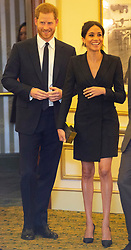 The Duke and Duchess of Sussex attend a Gala performance of the musical Hamilton at the Victoria Palace Theatre, London, UK, on the 29th August 2018. Picture by Dan Charity/WPA-Pool. 29 Aug 2018 Pictured: Prince Harry, Duke of Sussex, Meghan Markle, Duchess of Sussex. Photo credit: MEGA TheMegaAgency.com +1 888 505 6342