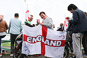 When in Brighton and Watching Euro 2016, dress up your scooter appropriately, Brighton's Big Screen Event match showing at Madeira Drive, to watch England and Russia at Stade Velodrome, Marseille, France on 11 June 2016. Photo by Stuart Butcher.