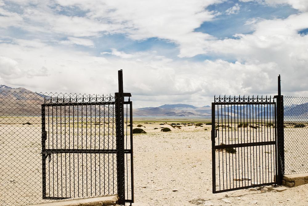 Open gate to nowhere, Ladakh