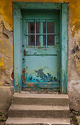 Old door in Zagreb, Croatia