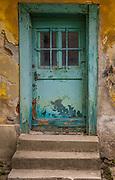 Old door in Zagreb, Croatia