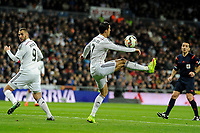 Real Madrid´s Cristiano Ronaldo and Karim Benzema during 2014-15 La Liga match between Real Madrid and Levante UD at Santiago Bernabeu stadium in Madrid, Spain. March 15, 2015. (ALTERPHOTOS/Luis Fernandez)