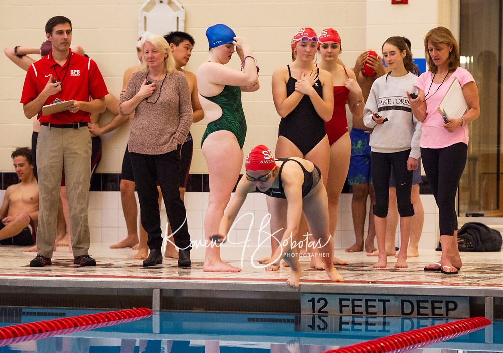 St Paul's School swim meet.  ©2018 Karen Bobotas Photographer