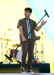 Joe Jonas of Jonas Brothers on stage during Capital's Summertime Ball. The world's biggest stars perform live for 80,000 Capital listeners at Wembley Stadium at the UK's biggest summer party. PRESS ASSOCIATION PHOTO. Picture date: Saturday June 8, 2019. Photo credit should read: Isabel Infantes/PA Wire