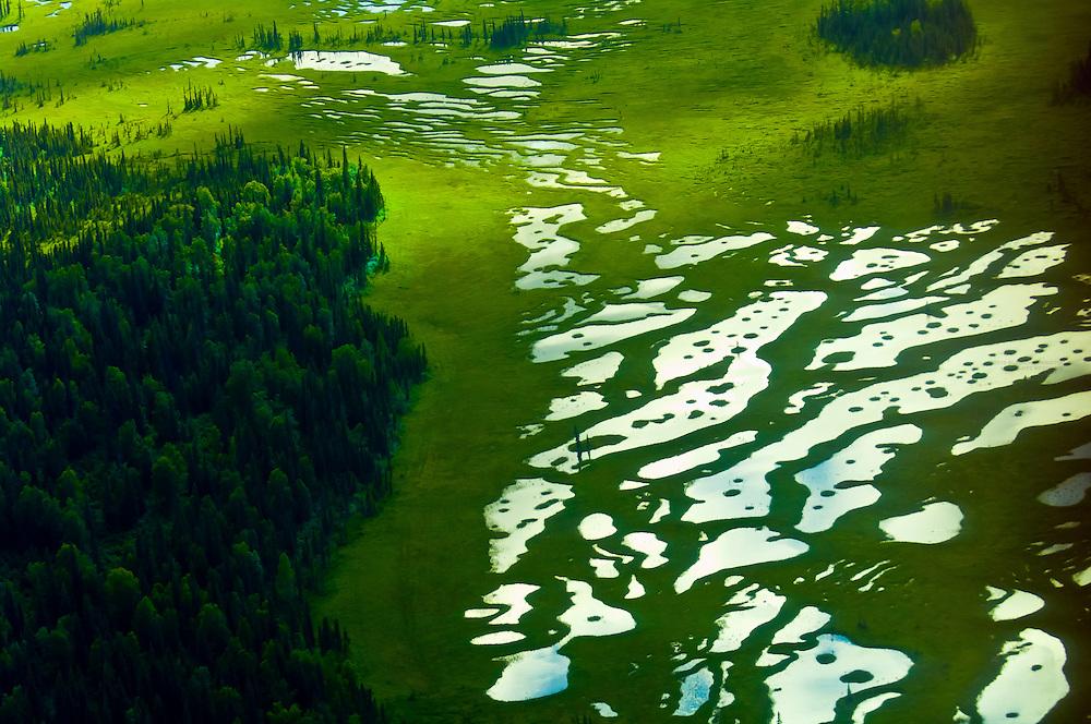 Aerial views south of Anchorage, Alaska