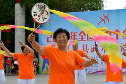August 8, 2017 - Shangqiu, Shangqiu, China - Shangqiu, CHINA-August 8 2017: (EDITORIAL USE ONLY. CHINA OUT) ..More than 500 people attend the traditional martial arts contest in Xiayi County, Shangqiu, central China's Henan Province, August 8th, 2017, marking the 9th National Fitness Day. (Credit Image: © SIPA Asia via ZUMA Wire)