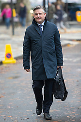 © Licensed to London News Pictures. 16/11/2019. London, UK. Shadow Secretary of State for Health and Social Care Jon Ashworth arrives for a Labour NEC meeting at Savoy Place.  Photo credit: George Cracknell Wright/LNP
