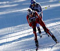 Langrenn<br /> Verdenscupavslutning<br /> Falun Sverige<br /> 19.03.2011<br /> Foto: Gepa/Digitalsport<br /> NORWAY ONLY<br /> <br /> FIS Weltcup, 20km Verfolgung der Damen. <br /> <br /> Bild zeigt Kristin Størmer Steira (NOR) und Arianna Follis (ITA).