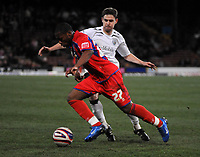 Photo: Tony Oudot/Sportsbeat Images.<br /> Crystal Palace v West Bromwich Albion. Coca Cola Championship. 01/12/2007.<br /> Frank Songo'o of Crystal Palace goes past Zoltan Gera of West Brom
