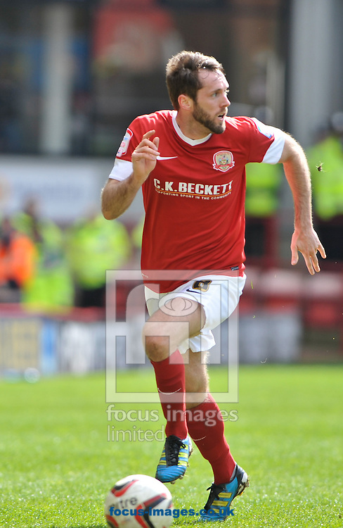 Picture by Richard Land/Focus Images Ltd +44 7713 507003.27/04/2013.James O'Brien of Barnsley during the npower Championship match at Oakwell, Barnsley.