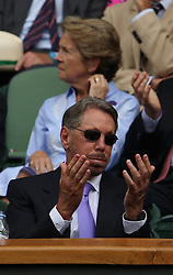 LONDON, ENGLAND - JULY 04: Larry Ellison attend day three of the Wimbledon Tennis Championships at the All England Lawn Tennis and Croquet Club on July 4, 2018 in London, England..People:  Larry Ellison (Credit Image: © SMG via ZUMA Wire)