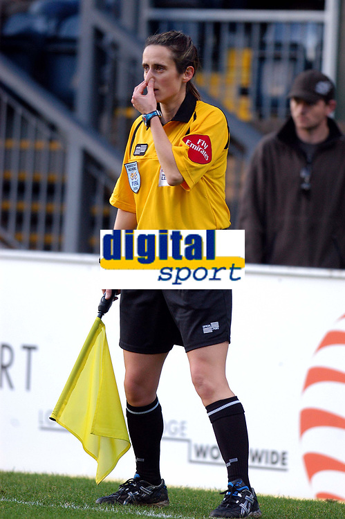Photo: Alan Crowhurst.<br />Wycombe Wanderers v Grimsby Town. Coca Cola League 2. 18/11/2006. Referee's assistant Amy Rayner.
