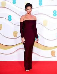 Megan Barton-Hanson attending the 73rd British Academy Film Awards held at the Royal Albert Hall, London.