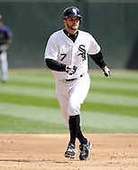 CHICAGO - APRIL 20:  Jeff Keppinger #7 of the Chicago White Sox runs the bases against the Minnesota Twins on April 20, 2013 at U.S. Cellular Field in Chicago, Illinois.  The Twins defeated the White Sox 2-1 .  (Photo by Ron Vesely)   Subject:  Jeff Keppinger
